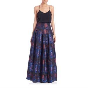 Sachin and Babi Noir imperial jacquard skirt sz 12